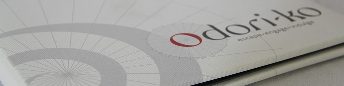 Digitally printed full color menu covers.