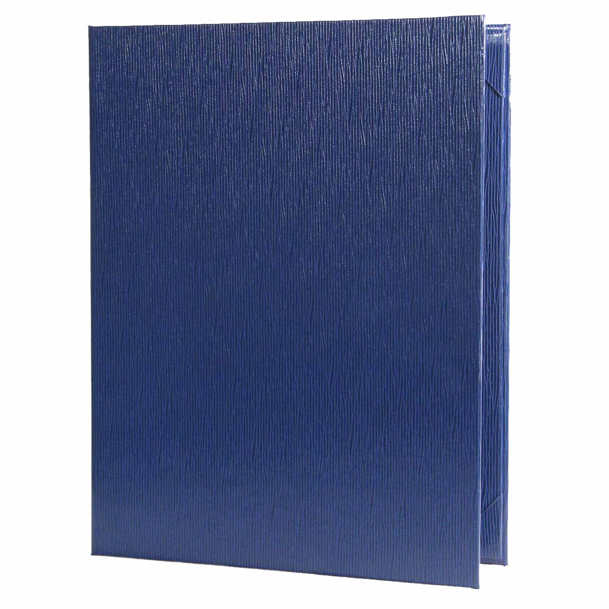 Glean two view menu cover 8.5x11 in royal blue.