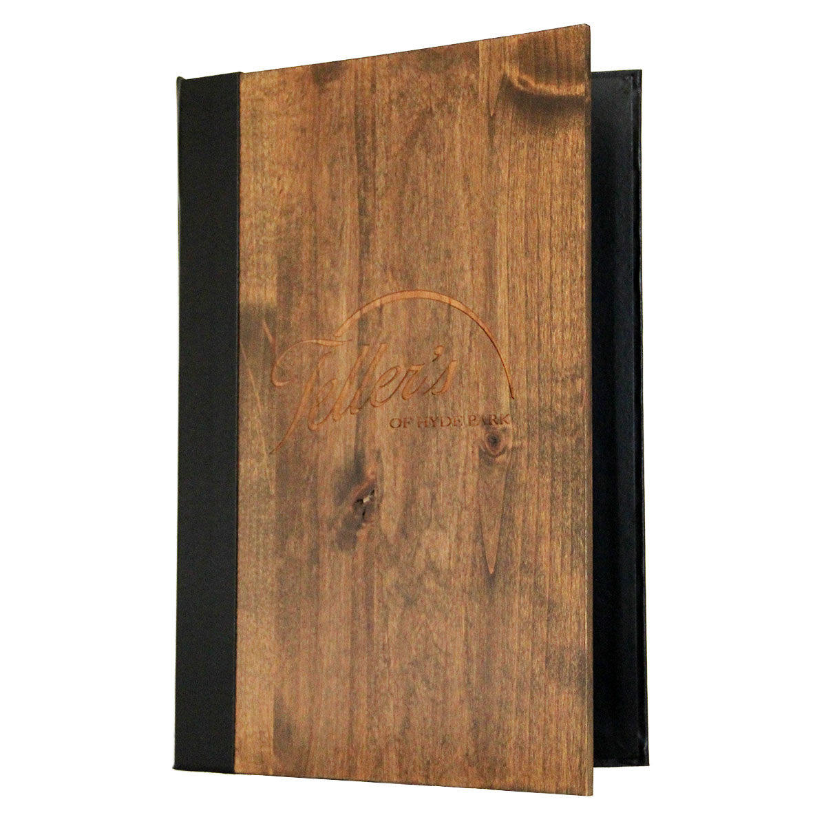 Wood Three Ring Binder 8.5x14 features solid alder front panel.